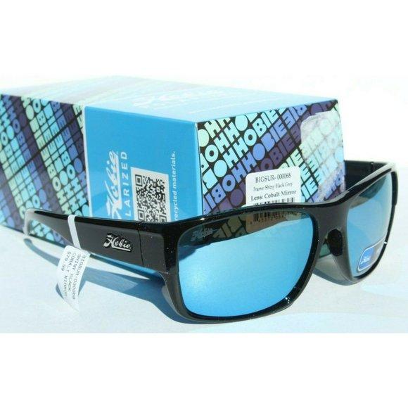 HOBIE Big Sur POLARIZED Sunglasses Satin Black//Grey Surf//Beach//Sport NEW